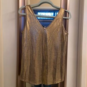 NWT WHBM gold jersey dual tank.